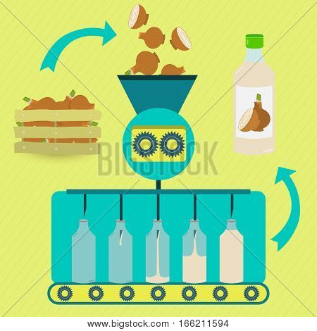 Onion Juice Fabrication Process