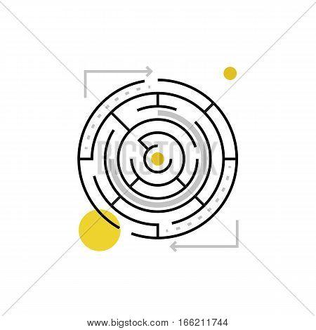 Maze Monoflat Icon.