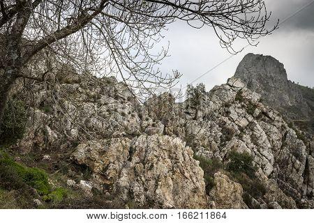 big rocks at Barragem de Santa Luzia dam, Pampilhosa da Serra municipality, Coimbra District, Portugal