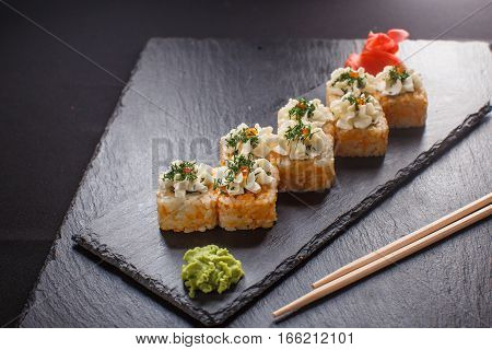 Japanese Food Hot Roll With Tuna