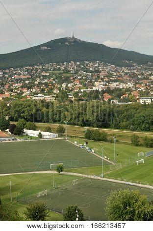 Summer mountain landscape in European urban Slovakia