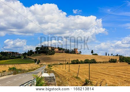 View Of Lucignano Darbia In The Tuscan Region San Quirico D Orcia In Italy