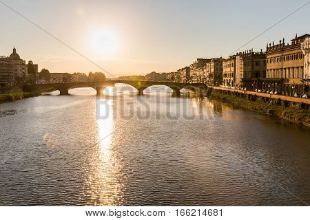 View To Ponte Alla Carraia In Florence