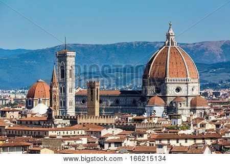 The Cattedrale di Santa Maria del Fiore in Florence Italy