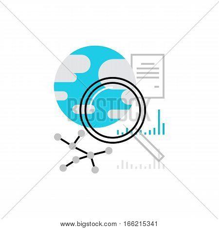 Global Search Monoflat Icon.