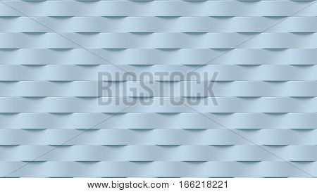 Blue wave band abstract texture surface pattern. 3d rendering