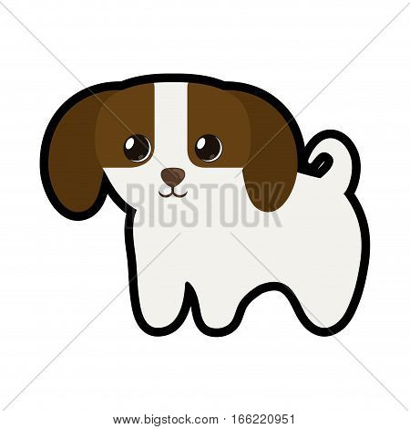 cute puppy little canine adorable vector illustration eps 10