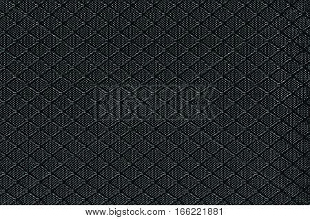 Black Nylon Fabric Background Texture, Large Detailed Textured Horizontal Macro Closeup Pattern, Textile Copy Space