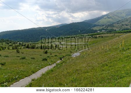 Rila mountain range in southwestern in Bulgaria. It is the highest mountain in Bulgaria and the Balkans with the highest peak being Musala at 2925 m.