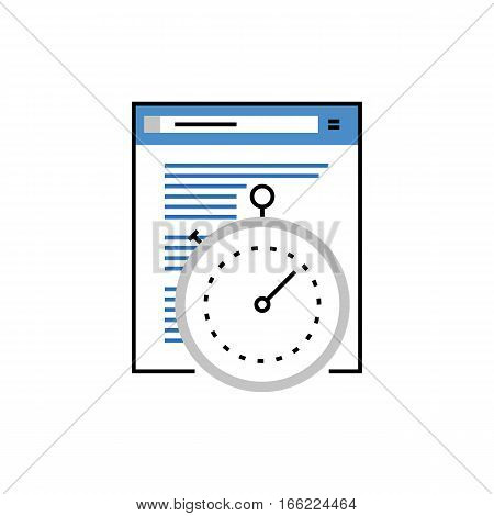 Internet Speed Monoflat Icon.