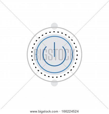 Power Button Monoflat Icon.
