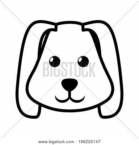 face dog animal pet ear long outline vector illustration eps 10