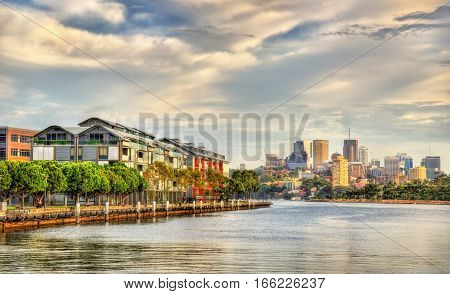View of Pyrmont Bay in Sydney - Australia, New South Wales