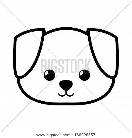face dog adorable pedigree outline vector illustration eps 10