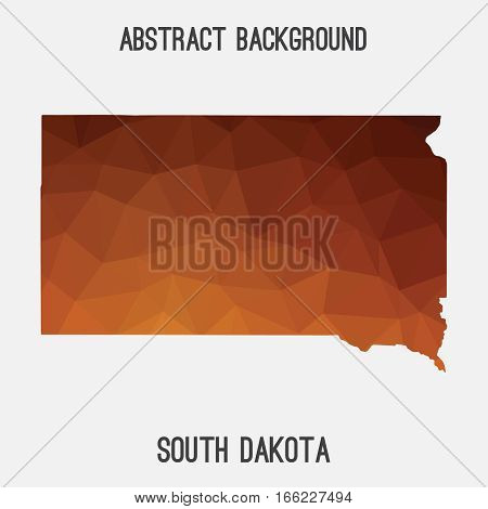 South Dakota state map in geometric polygonal style.Abstract tessellation,modern design background. Vector illustration EPS8