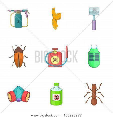 No insects icons set. Cartoon illustration of 9 no insects vector icons for web