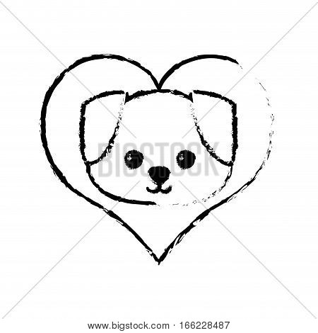 dog canine young love sketch vector illustration eps 10
