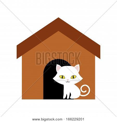 cat animal domestic furry brown house vector illustration eps 10