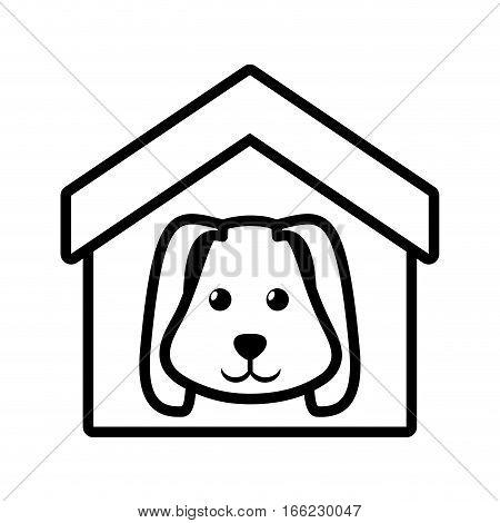 dog animal pet ear long house pet outline vector illustration eps 10