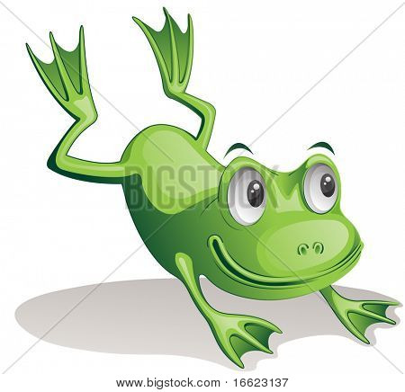 Illustration of jumping frog