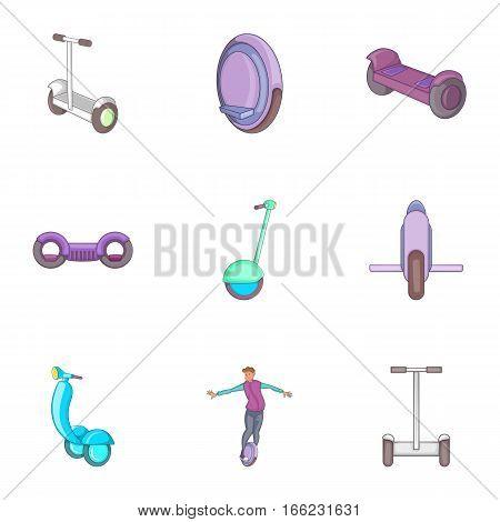 Modern urban transport icons set. Cartoon illustration of 9 modern urban transport vector icons for web