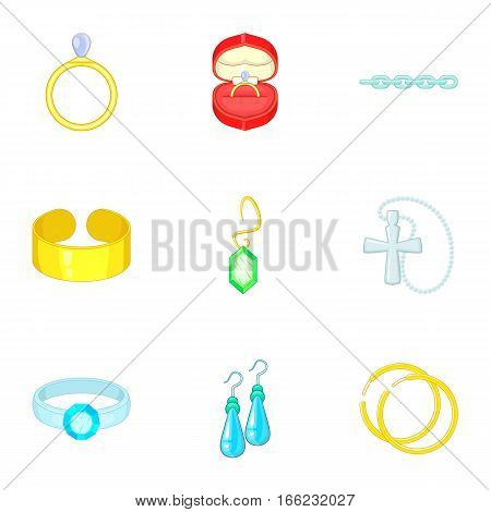 Precious gifts icons set. Cartoon illustration of 9 precious gifts vector icons for web