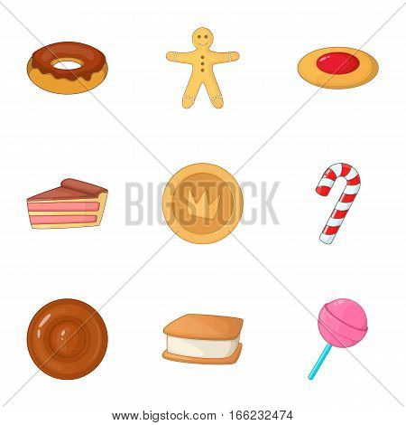 Desserts icons set. Cartoon illustration of 9 desserts vector icons for web