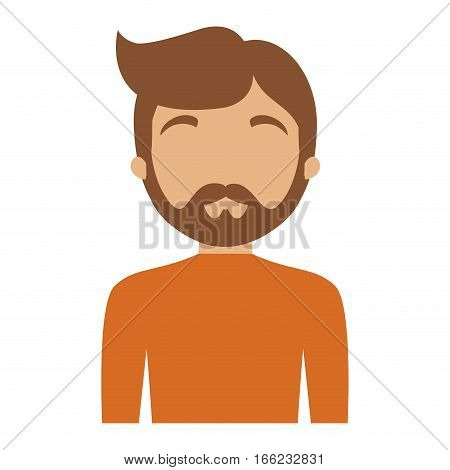 character man bearded hairstyle vector illustration eps 10