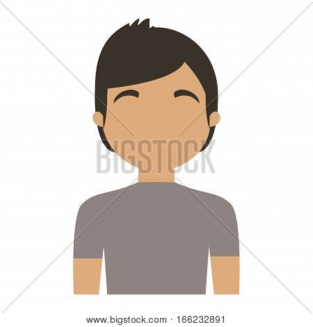 character man young casual vector illustration eps 10