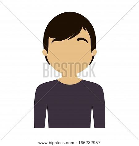 character man purple shirt trendy vector illustration eps 10