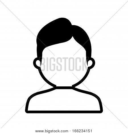 avatar man worker profile outline vector illustration eps 10