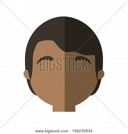 character face man multiethnic shadow vector illustration eps 10