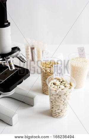 concept healthy food inspection in laboratory no one close up