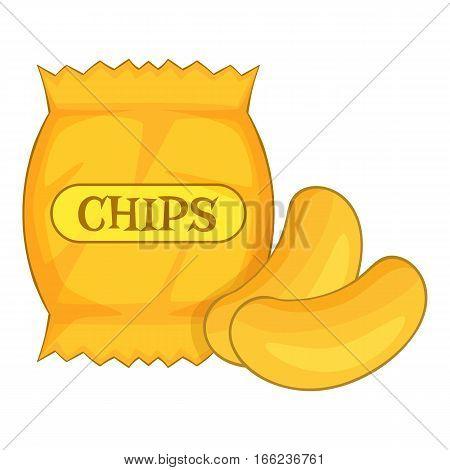 potato chips icon. Cartoon illustration of potato chips vector icon for web design