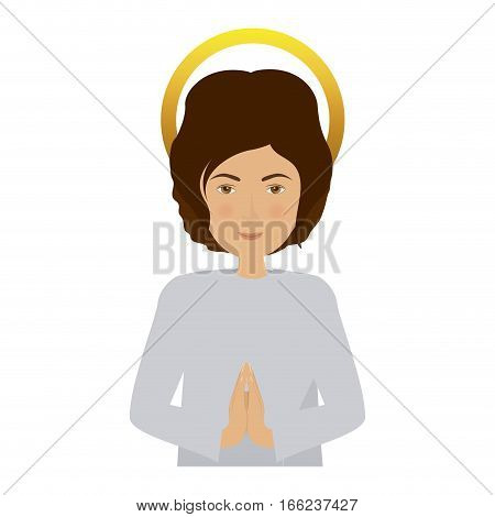 half body picture young jesus vector illustration