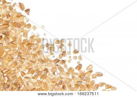 Wheat porridge border on white background details
