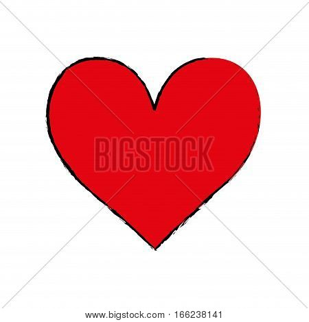 Romantic heart concept icon vector illustration graphic design