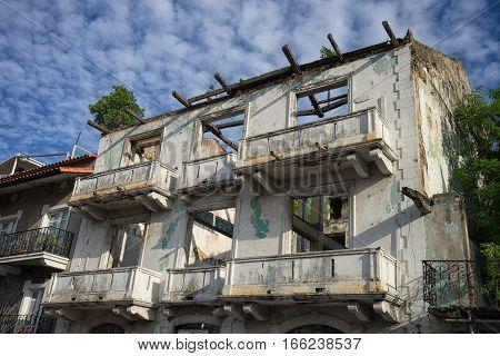 colonial building ruin in Casco Viejo Panama