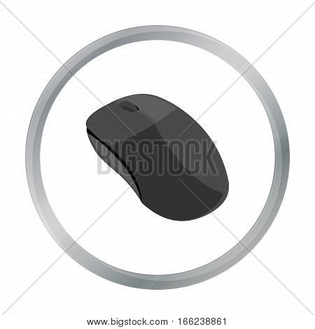 Computer mouse icon in cartoon style isolated on white background. Personal computer symbol vector illustration. - stock vector