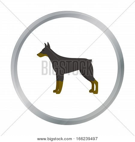 Doberman vector illustration icon in cartoon design - stock vector