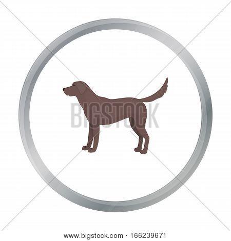 Labrador vector illustration icon in cartoon design - stock vector
