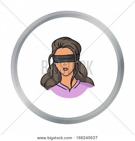 Hostage icon in cartoon style isolated on white background. Crime symbol vector illustration. - stock vector