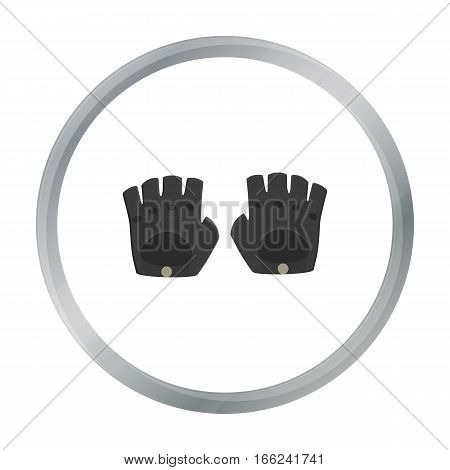 Leather gloves icon of vector illustration for web and mobile design - stock vector