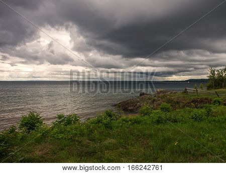 Rocky beach on the shores of Lake Superior