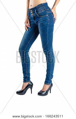 Woman Blue Jeans.