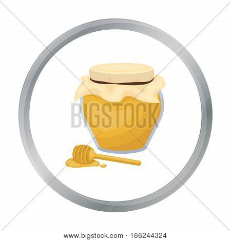 Honey icon in cartoon style isolated on white background. Canadian Thanksgiving Day symbol vector illustration. - stock vector