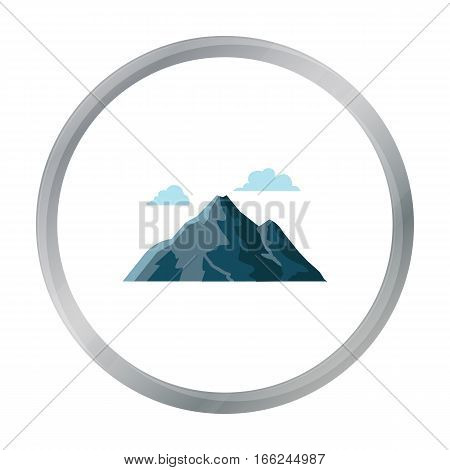 Mountain icon of vector illustration for web and mobile design - stock vector