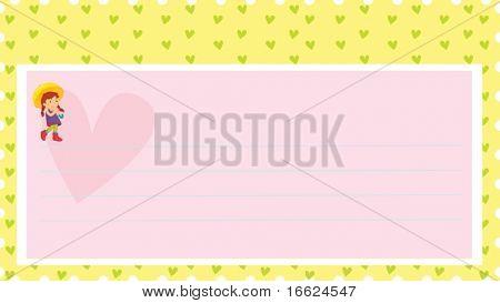 Illustration of postcard
