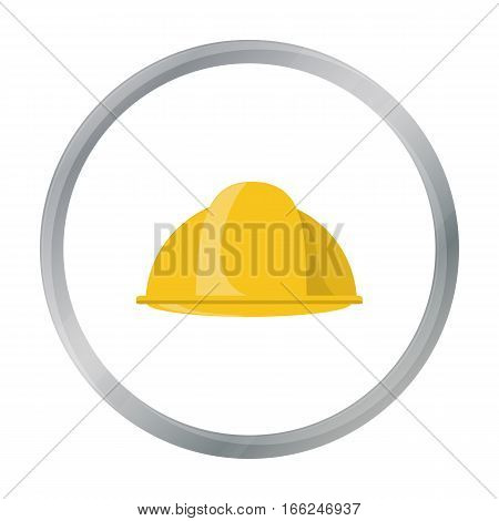 Construction helmet icon in cartoon style isolated on white background. Build and repair symbol vector illustration. - stock vector