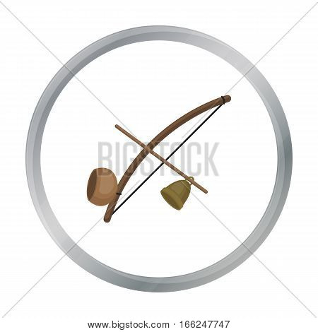 Berimbau icon in cartoon design isolated on white background. Brazil country symbol stock vector illustration. - stock vector